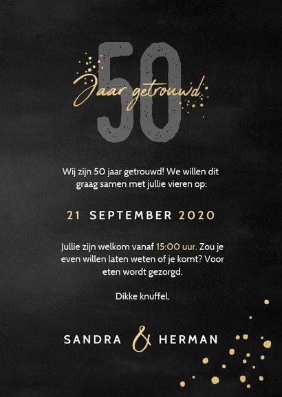 Stijlvolle uitnodigingskaart jubileum 50 jaar getrouwd 3