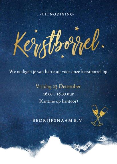 Stijlvolle uitnodigingskaart voor een zakelijke kerstborrel 3