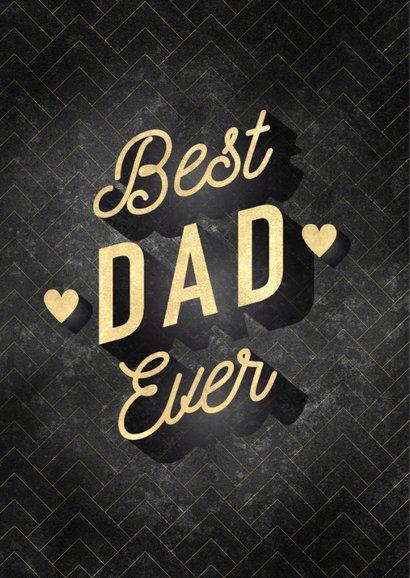 Stijlvolle vaderdag kaart Best Dad Ever fotocollage 2