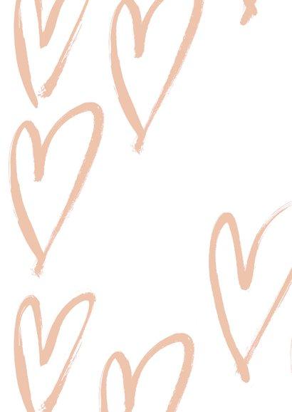 Stijlvolle valentijnskaart met foto op voorzijde 2