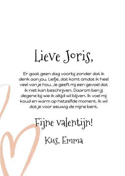 Stijlvolle valentijnskaart met foto op voorzijde 3