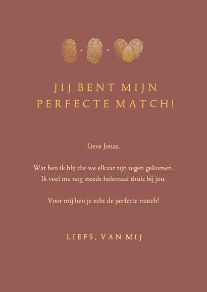 Stijlvolle Valentijnskaart met gouden hart van vingerafdruk 3