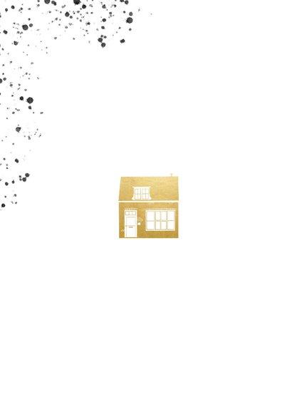 Stijlvolle verhuiskaart foto's gouden huisje en spetters 2