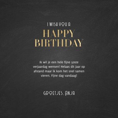 Stijlvolle verjaardagskaart 50 jaar gouden Happy Birthday! 3