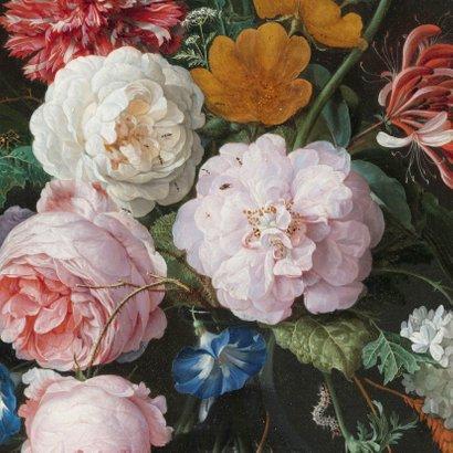 Stijlvolle verjaardagskaart bloemen en goud Jan Davidsz 2