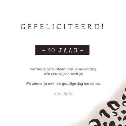 Stijlvolle verjaardagskaart met luipaardprint voor een vrouw 3