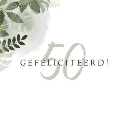 Stijlvolle verjaardagskaart met plantjes, takjes & waterverf 2