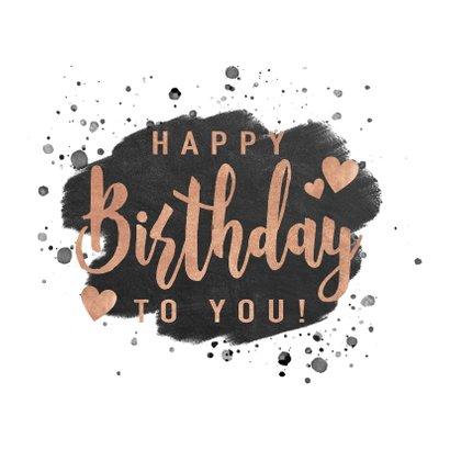 Stijlvolle verjaardagskaart met verf en typografie 2