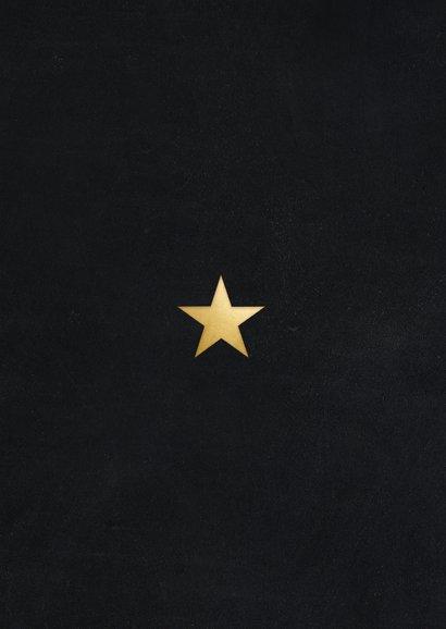 Stijlvolle zakelijke fotocollage kerstkaart met gouden 2021 Achterkant
