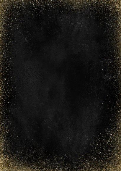 Stijlvolle zakelijke kerstkaart fotocollage gouden 2021 Achterkant