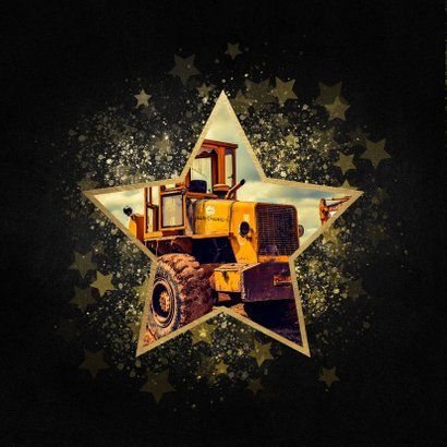 Stijlvolle zakelijke kerstkaart gouden ster Merry Christmas 2