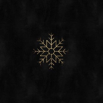 Stijlvolle zakelijke kerstkaart met gouden sneeuwvlok Achterkant