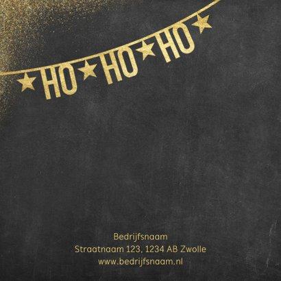 Stijlvolle zakelijke kerstkaart met slingers en typografie 2