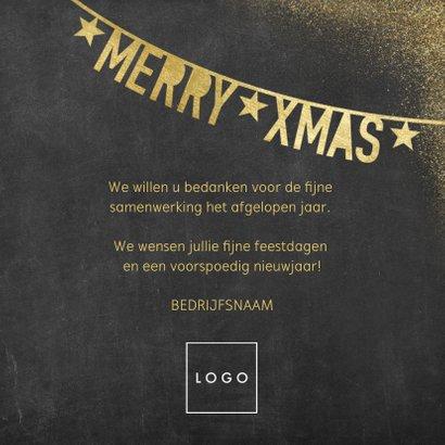 Stijlvolle zakelijke kerstkaart met slingers en typografie 3