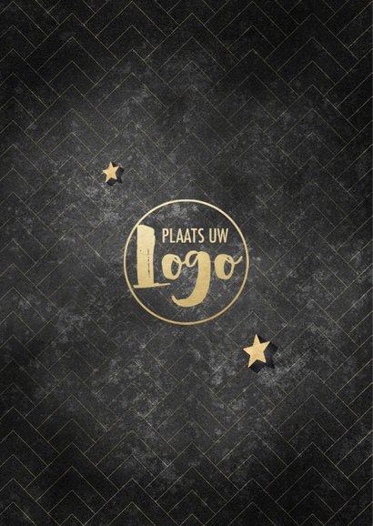 Stijlvolle zakelijke kerstkaart patroon goudlook typografie 2