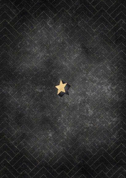 Stijlvolle zakelijke kerstkaart patroon goudlook typografie Achterkant