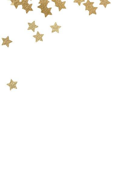 Stijlvolle zakelijke kerstkaart sterren goud zwart 2