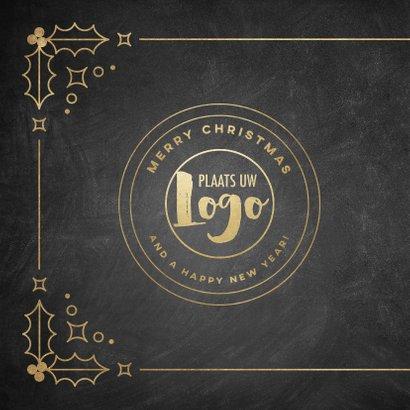 Stijlvolle zakelijke kerstkaart vintage Merry Christmas 2020 2