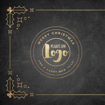 Stijlvolle zakelijke kerstkaart vintage Merry Christmas 2021 2