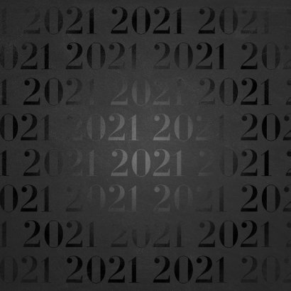 Stijlvolle zakelijke nieuwjaarskaart 2021 patroon met goud Achterkant
