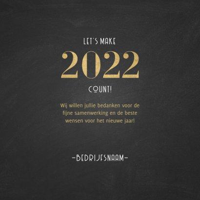 Stijlvolle zakelijke nieuwjaarskaart 2022 patroon met goud 3