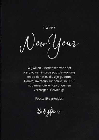 Stijlvolle zakelijke nieuwjaarskaart met fotocollage 3
