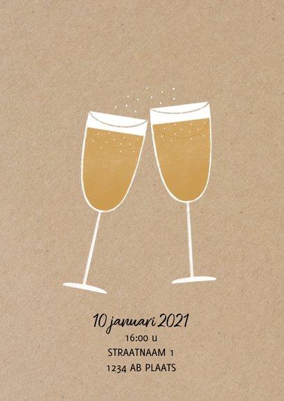 Stijlvolle zakelijke uitnodiging nieuwjaarsborrel 2