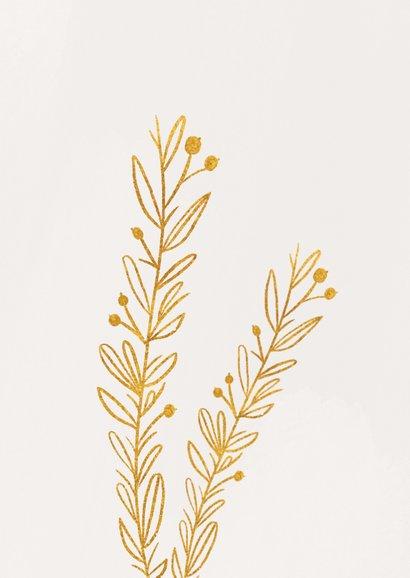 Stilvolle Grußkarte mit goldenen Zweigen 2