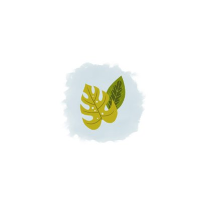 Stoer geboortekaartje met giraffe, plantjes en waterverf Achterkant