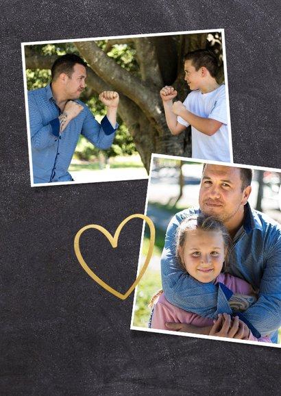 Stoere fotocollage vaderdagkaart met veel polaroids en namen 2