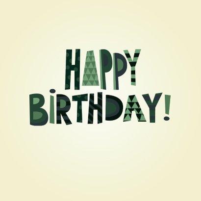 Stoere happy birthday verjaardagskaart man 2
