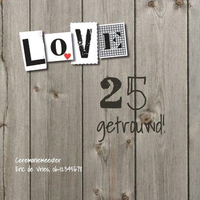 Stoere hout huwelijksjubileum 25 -LO 2