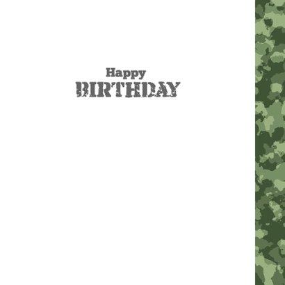 Stoere legerprint kaart met naam 3