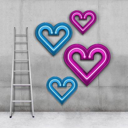 Stoere neon felicitatiekaart twee-eiige tweeling 2