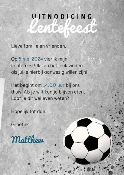 Stoere uitnodiging voor Lentefeest met voetbal en beton 3