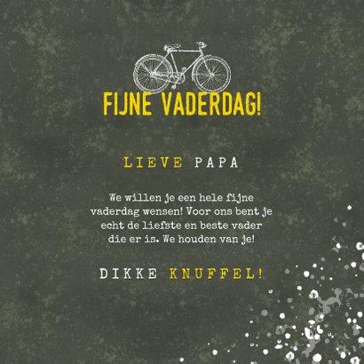 Stoere vaderdag kaart fijne vaderdag met fiets en spetters 3