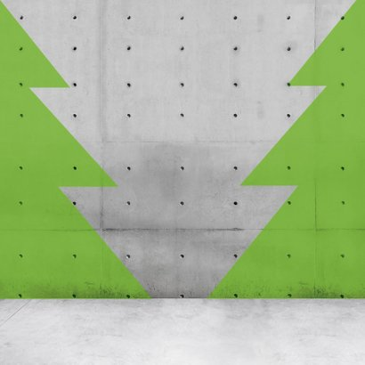 Stoere vierkante kerstkaart met neon letter 2
