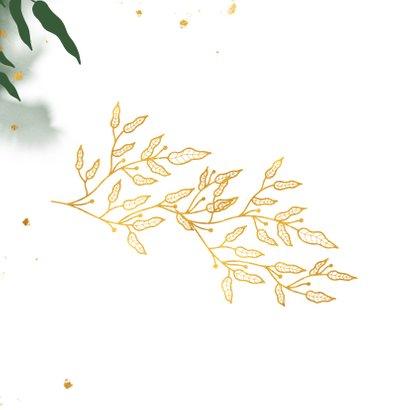 Succes stijlvol met gouden bladeren en waterverf 2