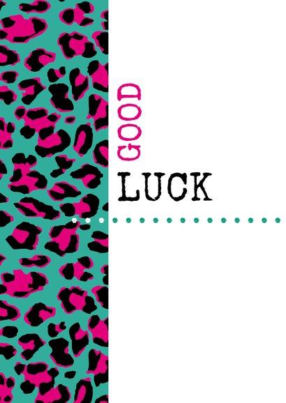 Succes Typografisch met luipaardprint 2