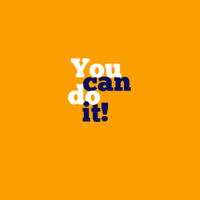Succeskaart You Can Do It! 2