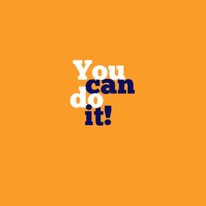 Succeskaart You Can Do It! 2