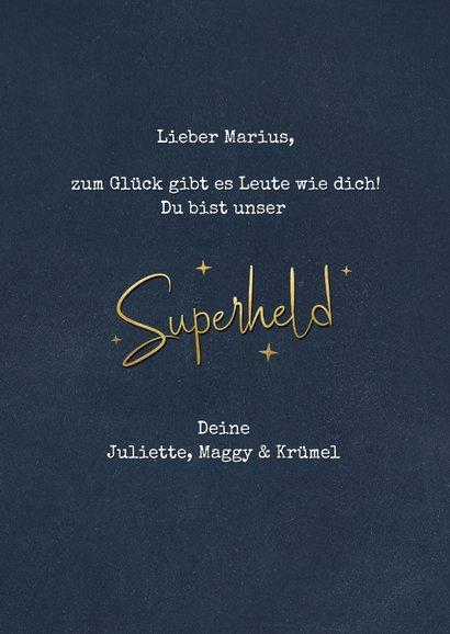 Superheld-Grußkarte 'Superheld ohne Umhang' 3