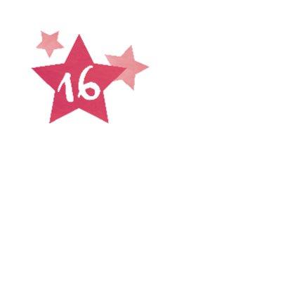 Sweet 16 verjaardagskaart 2