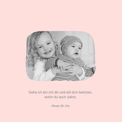 Taufeinladung Eulen-Geschwister rosa mit Foto innen 2