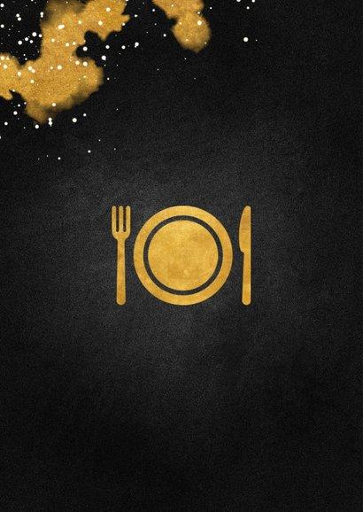 Tegoedbon etentje met gouden bestek 2