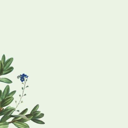 Thank you - botanische bedankkaart 2