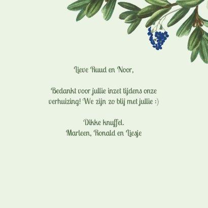 Thank you - botanische bedankkaart 3