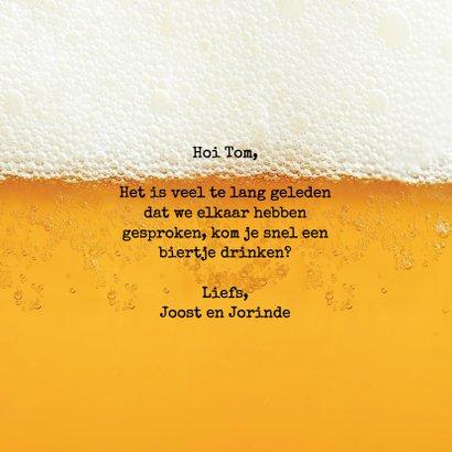 Tijd voor een biertje! - vriendschapkaart 3