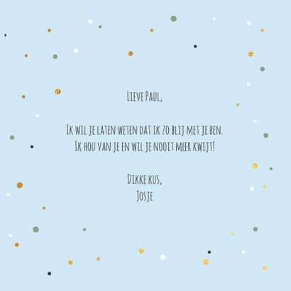To my magical hubby - gold and dots - Valentijnskaart 3