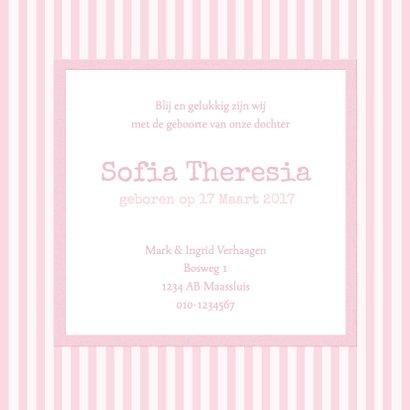 Traditioneel streepjes roze 1LS3 3